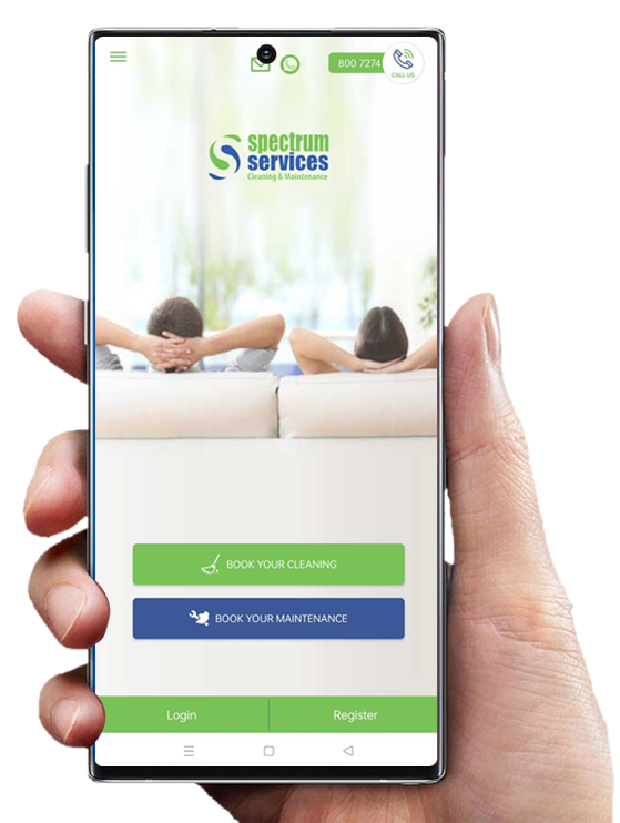 spectrum services cleaning and maintenance booking app
