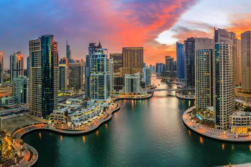 Dubai marina top view