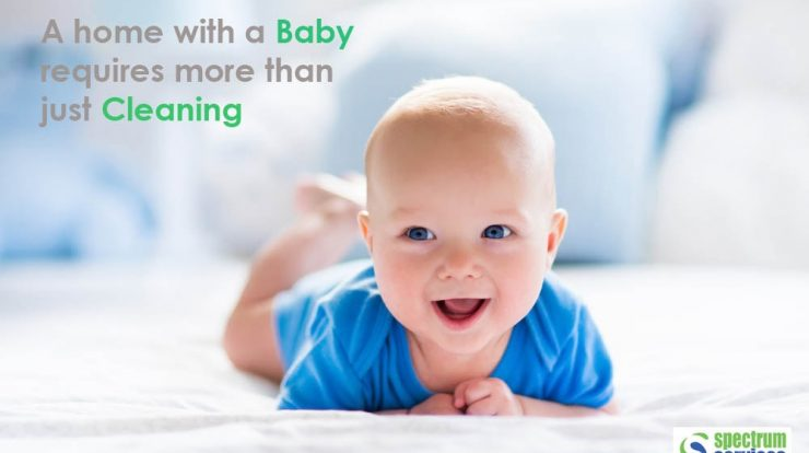 baby on clean bed with quotes