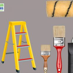 Painting service brush,roller and ladder