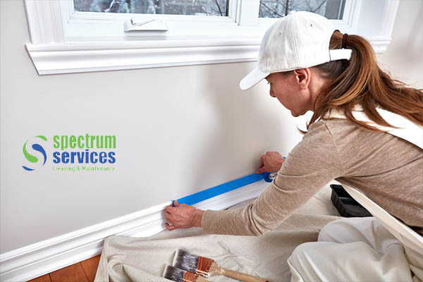 painting services company in Dubai masking room for painting